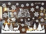 Fensterbild Weihnachten, Wunderschöne Fensteraufkleber, Wiederverwendbare Selbstklebend Weihnachtssticker, deko Weihnachten Fensterdeko, weiß Fensterbilder für Türen Schaufenster Vitrinen Glasfronten