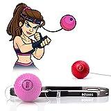 TEKXYZ Box-Reflexball, 2/3 verschiedene Stufen, Boxball mit Kopfband, weicher als Tennisball, perfekt für Reaktion, Agilität, Schlaggeschwindigkeit, Kampf und Hand-Augen-Koordinationstraining