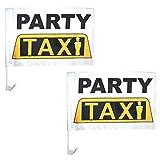 Spassprofi 2 Autoflaggen Party Taxi Autofahne Autoflagge Fahne Autoschmuck