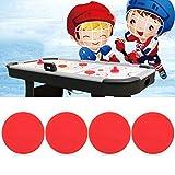 Air Hockey Pucks 4 Stücke dickere Air Ice Hockey Pucks Ersatz Air Hockey Tisch Red Pucks für Ersatzzubehör für Spieltische(63mm)