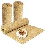 Nagerteppich aus 100% Hanf, 100 x 40cm, 5mm dick, 3er Pack (4,63 Euro/Stück), Hanfteppich für alle Arten Kleintiere, Hanfmatte Nagermatte Nager-Teppich