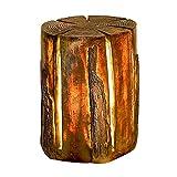 XBR Neue Outdoor-Glasfaser-Stumpfleuchte, AC90-260V Imitation Tree Lawn Lamp, Kreative Naturlandschaftsbeleuchtung, Stump Lights, Hockerleuchten aus Holz, Imitation Wood Lawn Light