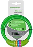 probock Fahrradschloss für Kinder Zahlen-Code-Kombination-Kabel-Schloss für Kinderfahrrad Laufrad - Maße 10 x 650 mm | Edition 2021 (Grün)