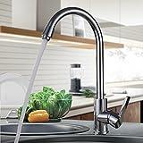 Auralum Chrom Wasserhahn Küche 360° schwenkbarer Küchenarmatur Hoher Auslauf Hochdruck Armaturen Einhebelmischer Mischbatterie für Küche Spüle