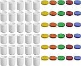 30 Salbendöschen, Creme-döschen, Salbenkruke hoch, 35ml Inhalt mit farbigen Deckeln - MADE IN GERMANY