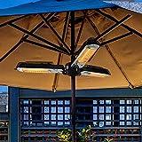 FENGZ Patio-Regenschirmheizung Im Freien,Innenhofheizung Zusammenklappbare Elektrische Infrarot-Raumheizung Mit 3 Heizpaneelen Zum Pergola Oder Sonnenschirm,2000W