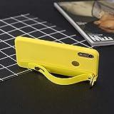 WIWJ Hülle für Huawei P20 Lite Handyhülle Transparent Matt Ultra Dünn Hülle Silikon Muster TPU Stoßfest Bumper Schutzhülle Handschlaufe Standfunktion Motiv Tasche-Gelb