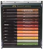 Faber-Castell 267422 - Tuschezeichner Pitt Artist Pen, 12-er Packung, erdfarben