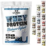 Whey Protein - 500g Beutel C.P. Sports, Protein Pulver Shake Eiweißpulver 16 geschmacksrichtungen (Blaubeere-Joghurt)