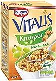 Dr. Oetker Vitalis Knuspermüsli klassisch: Großpackung knuspriges Frühstücksmüsli mit Rosinen, 2er Packung (2 x 1,5kg)