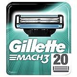 Gillette Mach3 Rasierklingen für Männer, 20Stück
