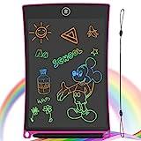 GUYUCOM Bunte Schreibtafel LCD Kinder 8.5Zoll, Elektronisches Schreibtablet mit hellerem Bildschirm, löschbarer und Anti-Clearance-Funktion, Lernspielzeuggeschenk für Jungen Mädchen (Rosa)