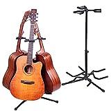 Malayas Gitarrenständer Gitarrenstativ gepolsterte Auflagen Höhenverstellbar für Akustik Gitarre Westerngitarre E-Gitarre Ukulele und Bass