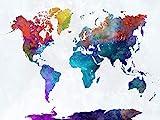 WOZUIBAN Puzzle 1000 Teile Puzzel Für Erwachsene DIY Bunte Kreative Weltkarte Holz Puzzle Moderne Wandschmuck Kunst Zu Hause Festival Geschenk 75x50cm