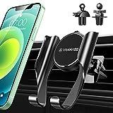 VANMASS Handyhalterung Auto 2 in 1 Handy Halterung Pkw Lüftung 2021 Upgrade【Memory-Funktion】 mit 2 Lüftungsclip Universale Smartphone Kfz Halterung Für Alle Smartphone wie iPhone Samsung Huawei LG usw