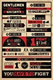 Fightclub G859135 Fight Club Poster Rules, Mehrfarbig, Standard