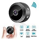 Mini Kamera, euskDE WiFi Überwachungskamera Full HD 1080P WLAN Tragbare Kleine Nanny Cam mit Bewegungserkennung und Infrarot Nachtsicht Mikro Wireless Kamera für Innen und Aussen Kamera