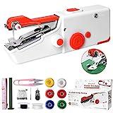 MLXJJY Nähmaschine Tragbare Elektrische Mini Nähmaschine für Anfänger Erwachsene, Einfach Zu Bedienen und Schnell Zu Nähen Geeignet für Kleidung, Stoffe, Cutains, Heimreisen