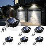 JSOT Solarlampen für Außen,9 LED Dachrinnen Solarleuchten IP55 Zaunlicht 100LM Wireless Außenwand Dekorationsleuchten für Patio, Gehwege, Hof, Garage, Eave (Weißes Licht, 6 Packungen)