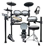 XDrum DD-530 Mesh Heads E-Drum SET mit Hocker und Kopfhörer (elektronisches Schlagzeug, Kopfhörer-Anschluss, 400 Sounds, Lernfunktion)