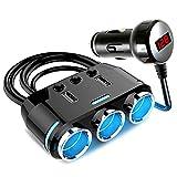 KFZ Zigarettenanzünder Verteiler Zigarettenanzünder Splitter USB Geeignet für Alle Tragbaren Geräte im Auto