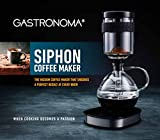 Gastronoma 16100122-Siphon-Kaffeemaschine-Vakuum-Kaffeebereiter-360° Basis-Display-Touchbedienung-500 Watt-Warmhaltefunktion- 0,50 Liter