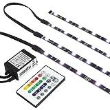 RGB TV HINTERGRUNDBELEUCHTUNG FÜR 52-60 ZOLL (132-152cm) - LED LEISTEN - STRIP Set Band Leiste Lichtleiste Licht Backlight - KOMPLETTSET INKL. FERNBEDIENUNG UND NETZTEIL - GR. XL