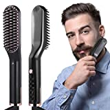 Bartglätter Bürste,Bürste Bartglätter Für Männer,3 in 1 Multifunktionale Elektrischer Bartglätter Haarglätter Bürste,150-210℃ Einstellbare Temperaturen Anti-Verbrühungs-Bartglättungs