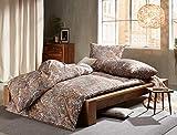 Bettwaesche-mit-Stil Mako Satin Paisley Bettwäsche orientalisch Hellbraun/Caramel - Kissenbezug 40x80 cm - 100% Baumwolle