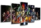 Wandbild - Star Wars, Darth Vader, 165 x 62 cm, Holzdruck - XXL Format - Kunstdruck, ref.26021