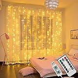 Innoo Tech LED USB Lichtervorhang 300 LEDs Lichterkettenvorhang 3M*3M IP65 Wasserfest 8 Modi Lichterkette Warmweiß für Weihnachten Party Schlafzimmer