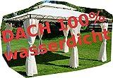 ASS Gartenpavillon Pavillon 3x4 Meter, 12m², Dach 100% wasserdicht und UV30+ Sonnenschutz, mit 6 Vorhängen, rechteckig von AS-S