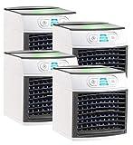 Sichler Haushaltsgeräte Mobile Mini Klimaanlage: 4er-Set 2in1-Tisch-Luftkühler und -Luftbefeuchter LW-110 (Luftkühler USB)