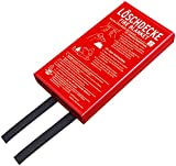 Brennenstuhl Feuer-Löschdecke BLD-02 (Brandschutzdecke 120x120cm, Soforthilfe bei Entstehungsbränden)