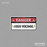 Beach345sley Warnschild'Danger High Voltage' Sicherheitsschild Strom-Warnung X423, lustiger Aufkleber, 25,4 x 21,6 cm