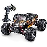 VATOS Ferngesteuertes Auto, Bürstenloses RC Auto 52 km/h Bürstenloser 1:16 Monstertruck 2,4 GHz Off-Road Crawler Stoßfest Buggy Hobby Spielzeugauto für Erwachsene und Kinder, (Orange)