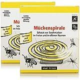 com-four® 20x Antimücken-Spiralen mit Ständer, die Mückenspirale vertreibt Mücken, Moskitos und andere Insekten auf Balkon, Terrasse, Garten und Camping