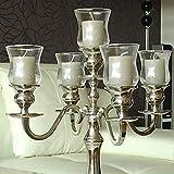 Dekowelten 5 er Set Teelichthalter Teelichtaufsatz aus Glas Glasaufsatz für Kerzenleuchter - Kerzenständer - Adventskranz