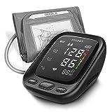 Blutdruckmessgerät Oberarm, HYLOGY Digital Vollautomatisch Blutdruckmessgerät und Pulsmessung, Großes LED Display und Große Manschette, 2x90 Dual-User-Modus(Mehrweg)