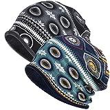 WELROG Chemo Hut Frau Hut Spitzen Kopftuch Super Weich Slouchy Turban Kopfbedeckungen Kopf Wraps (Dunkelgrauer Samt + Königsblauer Samt)