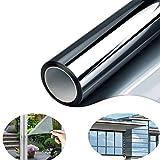 Fitlife Sonnenschutz Fensterfolie Selbsthaftend für Sonnenschutz Fenster Außen und Innen, Sonnenschutzfolie für Schlafzimmer UV-Schutz 90 x 400cm