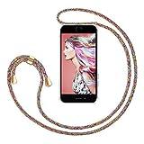 ZhinkArts Handykette kompatibel mit Apple iPhone 7/8 / iPhone SE (2020) - 4,7' Display - Smartphone Necklace Hülle mit Band - Handyhülle Case mit Kette zum umhängen in Rainbow