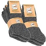VCA 6 Paar Norweger - Socken anthrazit meliert mit weich gepolsterter Plüschsohle Gr. 43-46