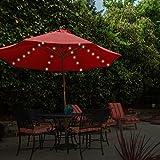 GardenKraft LED-Lampenschirm, batteriebetrieben, mit Chaser und Timer-Funktion, Warmweiß