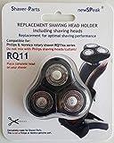 Alternative Scherkopf Einheit RQ11 (mit 3 Scher-Köpfe), passend für Philips Rasierer Senso Touch 2D, RQ11xx Serien