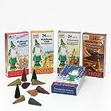 Knox XL Sparpack 5 Päckchen Räucherkerzen - Sandel Waldhonig Weihnachtsduft Schokolade und Bunte Mischung