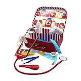 GICO Kinder Arztkoffer Doktorkoffer 29x19x9 cm mit viel Zubehör und funktionsfähigem Stethoskop