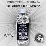 WEILAX Airsoft Softair Kugeln Fritz-Cell Premium BBS 6 mm 0,25g Flasche 3000 Stück