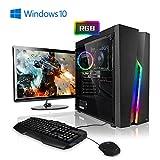 Megaport Komplett PC AMD Ryzen 3 3200G 4X 3.60GHz • GeForce GTX1050Ti • 24' Bildschirm + Tastatur+Maus • 8GB • 1TB • Windows 10 Home, Gaming PC, Gamer PC, PC Komplettsystem, Komplett Set