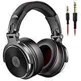 OneOdio DJ Kopfhörer, Studiokopfhörer, Over-Ear Headset mit Mikrofon, Adapter-frei Geschlossener Headphone 6,3mm & 3,5 mm, 90 ° drehbares Gehäuse & 50mm Treibereinheit/Protein Leder Ohrmuscheln